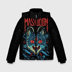 Куртка зимняя для мальчика Mastodon: Demonic Cat цвета 3D-черный — фото 1
