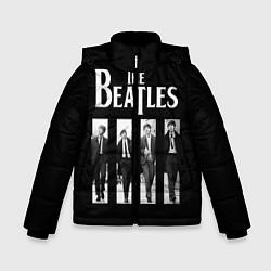 Куртка зимняя для мальчика The Beatles: Black Side цвета 3D-черный — фото 1