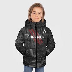 Куртка зимняя для мальчика You Are The Champion цвета 3D-черный — фото 2
