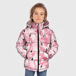 Куртка зимняя для мальчика Розовый фламинго цвета 3D-черный — фото 2