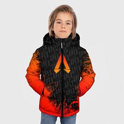 Куртка зимняя для мальчика Apex Legends: Orange Flame цвета 3D-черный — фото 2