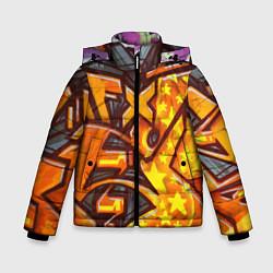 Куртка зимняя для мальчика Orange Graffiti цвета 3D-черный — фото 1