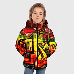 Куртка зимняя для мальчика Red Graffiti цвета 3D-черный — фото 2