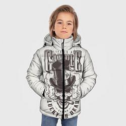 Куртка зимняя для мальчика Life is a camble lucky or dead цвета 3D-черный — фото 2