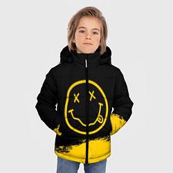 Куртка зимняя для мальчика NIRVANA цвета 3D-черный — фото 2