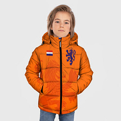 Куртка зимняя для мальчика Сборная Голландии цвета 3D-черный — фото 2