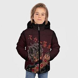 Куртка зимняя для мальчика SCARLXRD: Dark Man цвета 3D-черный — фото 2