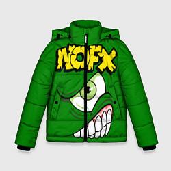 Куртка зимняя для мальчика NOFX Face цвета 3D-черный — фото 1