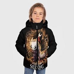Куртка зимняя для мальчика Hollow Knight: Silksong цвета 3D-черный — фото 2