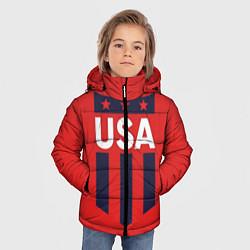 Куртка зимняя для мальчика USA цвета 3D-черный — фото 2