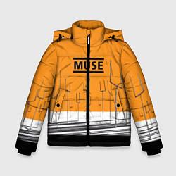 Куртка зимняя для мальчика Muse: Orange Mood цвета 3D-черный — фото 1