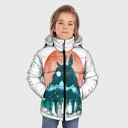 Куртка зимняя для мальчика Лесной Тоторо цвета 3D-черный — фото 2