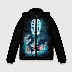 Куртка зимняя для мальчика Бог быстрой янтарной реки цвета 3D-черный — фото 1
