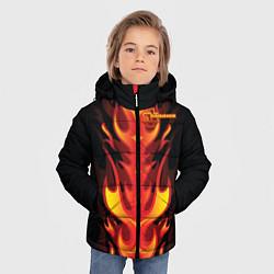 Куртка зимняя для мальчика Rammstein Fire цвета 3D-черный — фото 2