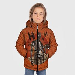 Куртка зимняя для мальчика K-2SO цвета 3D-черный — фото 2