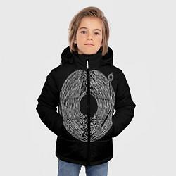 Детская зимняя куртка для мальчика с принтом Joy Division, цвет: 3D-черный, артикул: 10183424106063 — фото 2