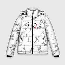 Куртка зимняя для мальчика STRAY KIDS АВТОГРАФЫ цвета 3D-черный — фото 1