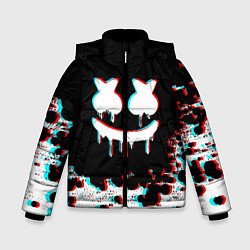 Куртка зимняя для мальчика MARSHMELLO GLITCH цвета 3D-черный — фото 1