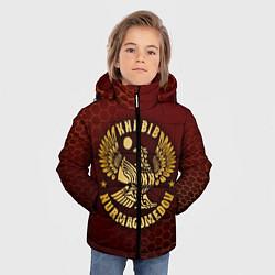 Куртка зимняя для мальчика ХАБИБ НУРМАГОМЕДОВ цвета 3D-черный — фото 2