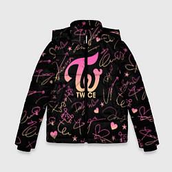Куртка зимняя для мальчика TWICE АВТОГРАФЫ цвета 3D-черный — фото 1