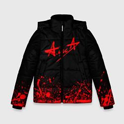 Куртка зимняя для мальчика АлисА на спине цвета 3D-черный — фото 1