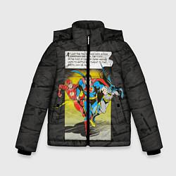 Куртка зимняя для мальчика Flash, Batman, Superman цвета 3D-черный — фото 1