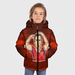 Куртка зимняя для мальчика Дзюба Russia edition цвета 3D-черный — фото 2