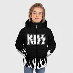 Куртка зимняя для мальчика Kiss цвета 3D-черный — фото 2