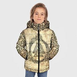 Куртка зимняя для мальчика Валькнут символ павших в битве цвета 3D-черный — фото 2