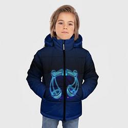 Куртка зимняя для мальчика Знаки Зодиака Весы цвета 3D-черный — фото 2
