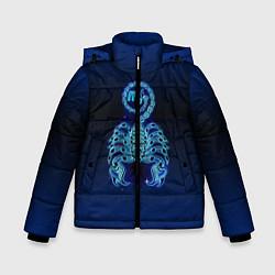 Куртка зимняя для мальчика Знаки Зодиака Скорпион цвета 3D-черный — фото 1