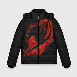 Куртка зимняя для мальчика Хвост Феи цвета 3D-черный — фото 1