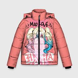 Куртка зимняя для мальчика Harley Quinn Mad love цвета 3D-черный — фото 1