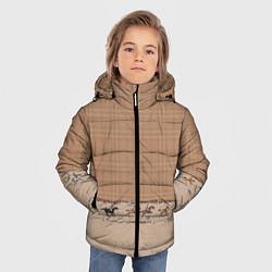 Куртка зимняя для мальчика Всадники цвета 3D-черный — фото 2