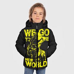 Куртка зимняя для мальчика One Piece We Go World цвета 3D-черный — фото 2
