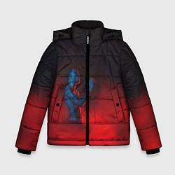 Куртка зимняя для мальчика Скриптонит цвета 3D-черный — фото 1