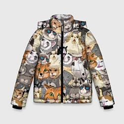 Куртка зимняя для мальчика ALL CATS MEMES цвета 3D-черный — фото 1
