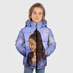 Куртка зимняя для мальчика Ариана Гранде цвета 3D-черный — фото 2