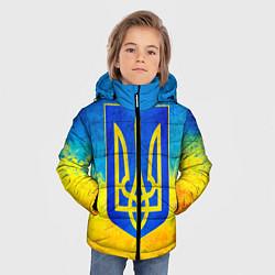 Куртка зимняя для мальчика Флаг цвета 3D-черный — фото 2