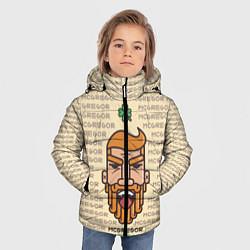 Куртка зимняя для мальчика MCGREGOR цвета 3D-черный — фото 2
