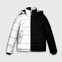 Куртка зимняя для мальчика ПРОСТО ЧЁРНО-БЕЛЫЙ цвета 3D-черный — фото 1