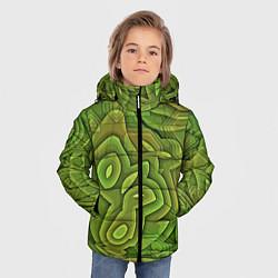 Куртка зимняя для мальчика Необычный камуфляж цвета 3D-черный — фото 2