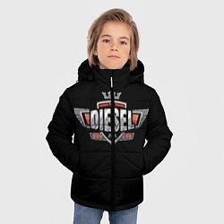 Куртка зимняя для мальчика Дизель цвета 3D-черный — фото 2