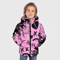 Куртка зимняя для мальчика LIL PEEP цвета 3D-черный — фото 2