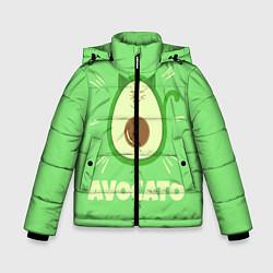 Куртка зимняя для мальчика Авокато цвета 3D-черный — фото 1