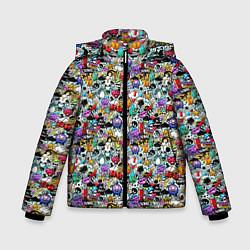 Куртка зимняя для мальчика Stickerboom цвета 3D-черный — фото 1