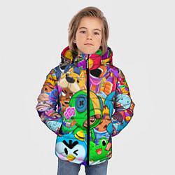 Куртка зимняя для мальчика BRAWL STARS цвета 3D-черный — фото 2