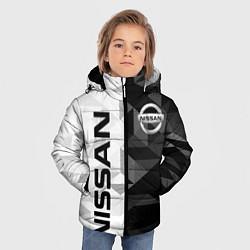 Куртка зимняя для мальчика NISSAN цвета 3D-черный — фото 2