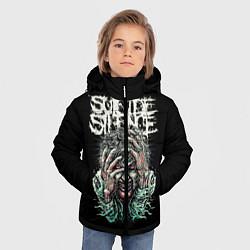 Куртка зимняя для мальчика Suicide silence цвета 3D-черный — фото 2