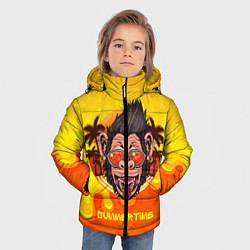 Детская зимняя куртка для мальчика с принтом Summertime обезьяна, цвет: 3D-черный, артикул: 10209177906063 — фото 2